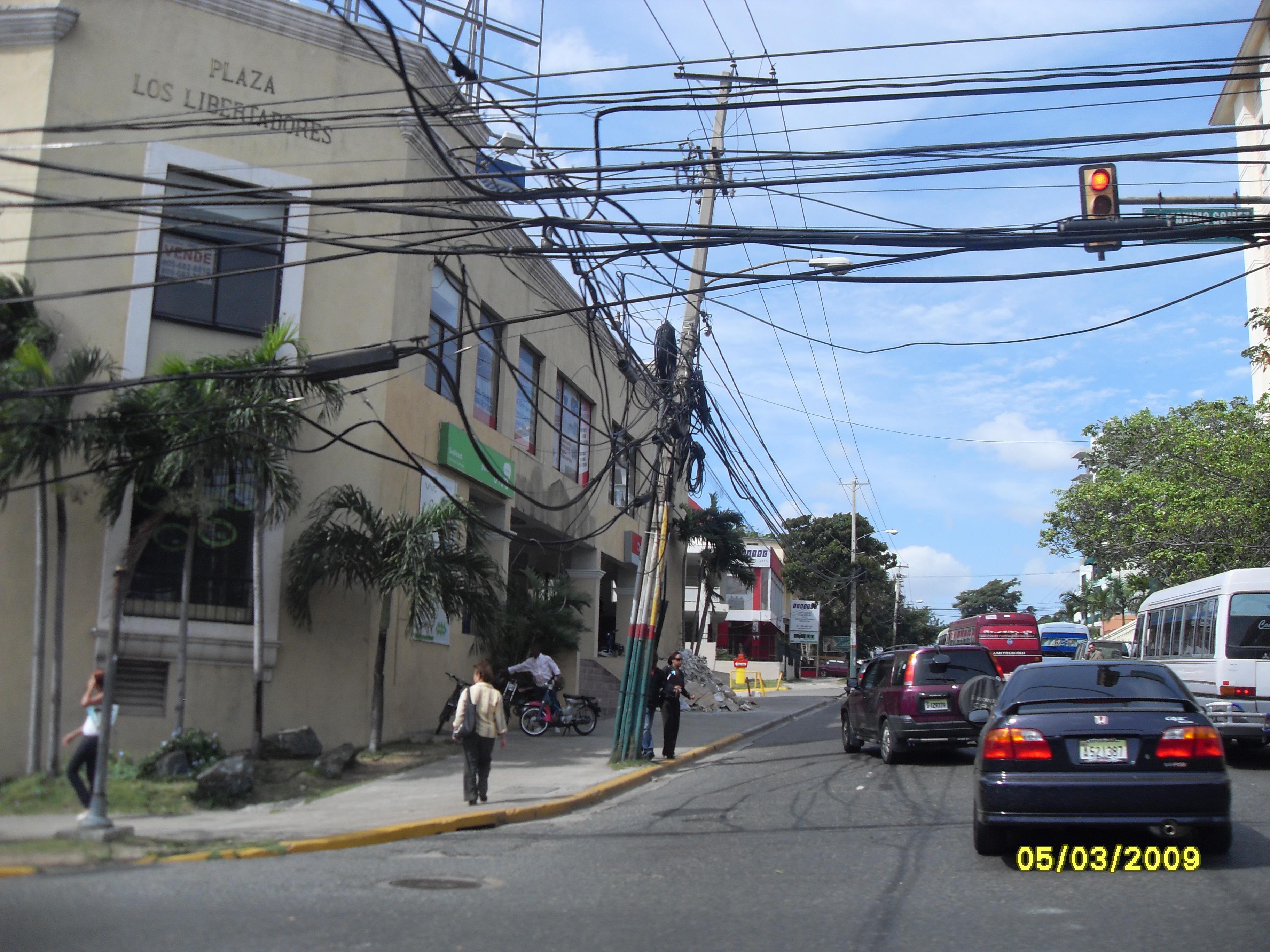 Eldistribution i Santo Domingo