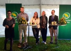 Carolina Bruseman från Grön Ungdom frågar ut Miljöpartiets Europaparlamentariker Jakop Dalunde, Bodil Valero, Linnéa Engström och Max Andersson.